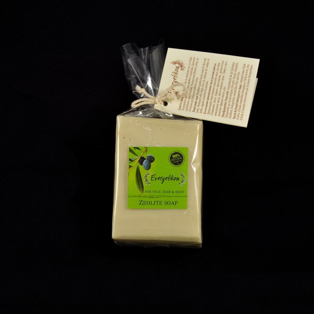 Edible-Pure Cretan Olive oil Face & Body Soap Zeolite