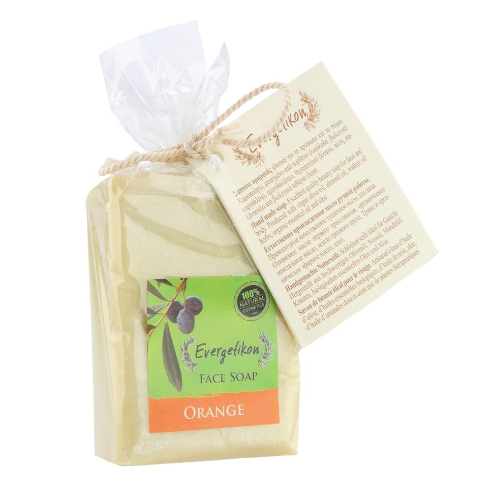 Edible-Pure Cretan Olive oil Face & Body Soap Orange
